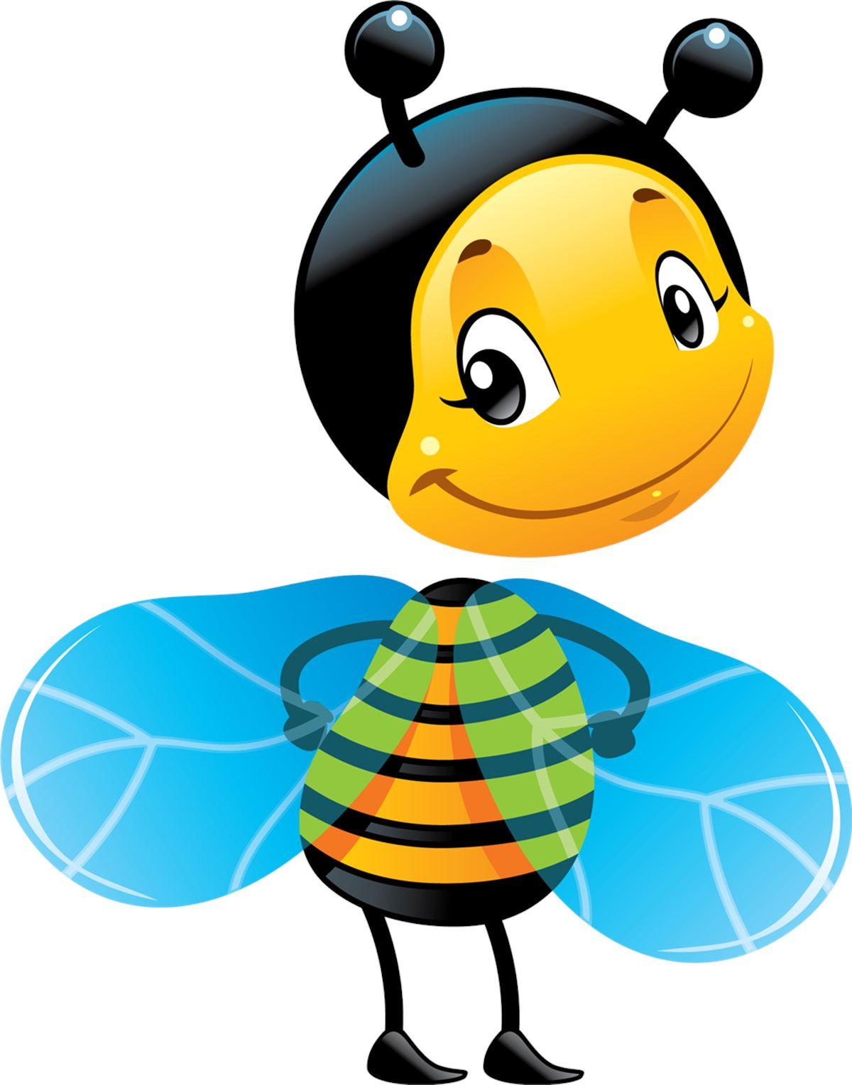 Adesivi murali ape girata leostickers for Immagini api per bambini
